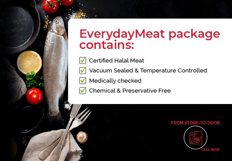 Everyday Meat provides fresh, halal and chemical free meat online